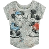 Disney LADIES Shirt - Mickey and Minnie Mouse Dolman Knit Top