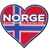Disney Magnet - Epcot World Showcase - Norway Flag Heart