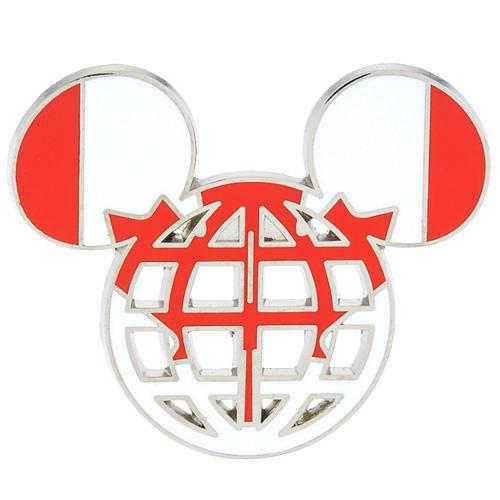 Disney Mickey Icon Pin - Global Ears Icon - Canada Flag