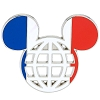 Disney Mickey Icon Pin - Global Ears Icon - France Flag