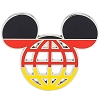 Disney Mickey Icon Pin - Global Ears Icon - Germany Flag