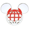 Disney Mickey Icon Pin - Global Ears Icon - Japan Flag