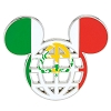 Disney Mickey Icon Pin - Global Ears Icon - Mexico Flag