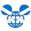 Disney Mickey Icon Pin - Global Ears Icon - Scotland Flag