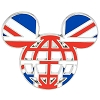 Disney Mickey Icon Pin - Global Ears Icon - United Kingdom Flag