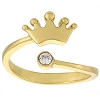 Disney Ring - Adjustable Crown Gold with Crystal Accent