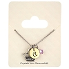 Disney Necklace - Princess Crown & Letter Charm