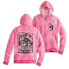 Disney LADIES Zip Hoodie - Mickey Mouse Rock 'n Roller Coaster - Pink
