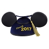Disney Hat - Mickey Mouse Ears Grad Hat - Graduation Class of 2017