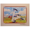 Disney Artist Print - Randy Noble - Goofy's Pitch - Signed