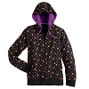 Disney Ladies Zip Hoodie - Halloween Mickey Icon and Polka Dot