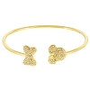 Disney Bracelet - Minnie Mouse Ears Icon & Bow - Crystals & Gold
