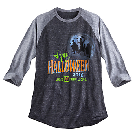 disney adult shirt happy halloween raglan tee