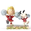 Peanuts by Jim Shore - Cheerleading Snoopy and Sally