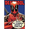 Disney Wall Magnet - Marvel - DEADPOOL Common Sense Tingling