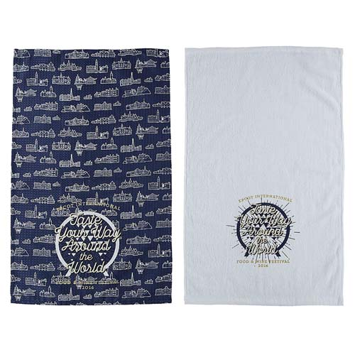 Your WDW Store - Disney Dish Towel Set - Epcot Food and Wine ...