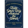 Disney Wall Poster - Epcot Food and Wine Festival 2016 Taste Your Way