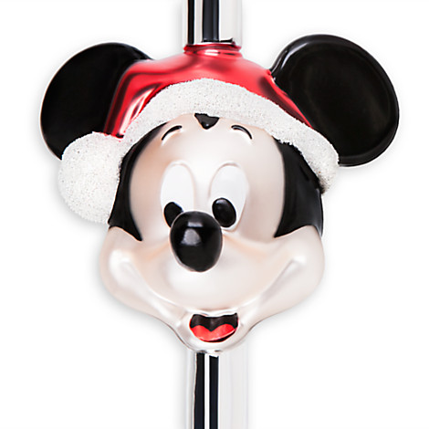 Your WDW Store Disney Christmas Tree Topper Glass Santa Mickey  - Mickey Mouse Christmas Tree Topper