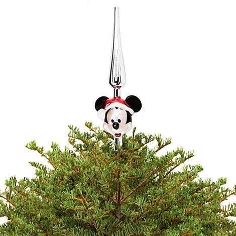 Your WDW Store - Disney Christmas Tree Topper - Glass Santa Mickey ...