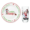 Disney Holiday Glass and Plate Set - Cookies and Milk for Santa