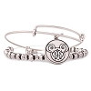 Disney Alex and Ani Charm Bracelet - Filigree Set Mickey - Silver