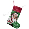 Disney Christmas Holiday Stocking - Santa Mickey Mouse & Helper Dale