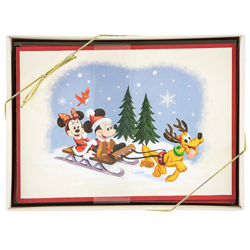 Disney Quotes For Christmas Cards: Vintage Holiday Mickey And