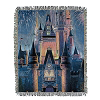 Disney Woven Throw - Walt Disney World Cinderella Castle and Fireworks