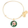 Disney Alex and Ani Charm Bracelet - Santa Mickey Bangle - Gold
