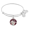 Disney Alex and Ani Charm Bracelet - Santa Mickey & Minnie Bangle - Silver