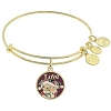 Disney Alex and Ani Charm Bracelet - Santa Mickey Minnie Bangle - Gold