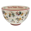 Disney Serving Bowl - Santa Mickey & Friends Warm Winter Wishes