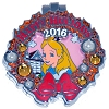 Disney Resort Holidays Pin 2016 - Grand Floridian Alice in Wonderland