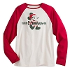 Disney Adult Shirt - Retro Santa Mickey Mouse Long Sleeve Raglan