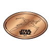 Disney Pressed Penny - Star Wars - X-Wing Fighter