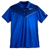 Disney ADULT Shirt - Mickey Mouse Polo by NikeGolf- Two-Tone Blue
