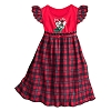Disney Girls Holiday Nightgown - Santa Mickey & Minnie Sledding Plaid