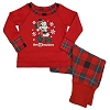 Disney Infant Toddler Holiday Pajamas - Santa Mickey Mouse Plaid