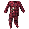 Disney Infant Toddler Holiday Pajama Onesie Festive Santa Minnie Mouse