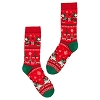Disney Adult Holiday Socks - Santa Mickey and Minnie Christmas
