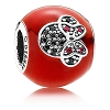 Disney PANDORA Charm - I Love Minnie Mouse - Red
