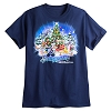 Disney Adult Shirt - Happy Holidays Festive Santa Mickey Mouse - Navy