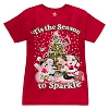 Disney Adult Shirt - Santa Mickey and Minnie Mouse Jumbo Tee