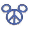 Disney Mickey Icon Pin - Peace Sign - Blue