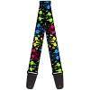 Disney Guitar Strap - Mickey Mouse Neon Faces Paint Splatter