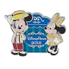 Disney Mickey and Minnie Pin - Disney Parks 2016