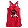 Disney WOMEN'S Tank Top - Epcot Flags Logo - Red