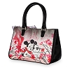 Disney Boutique Satchel Tote Bag - Mickey and Minnie Mouse Blossom