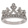 Disney Ring - Crown with Crystals - Silver