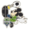 Disney Mickey Pin - MLS - Soccer Player - Seattle Sounders FC